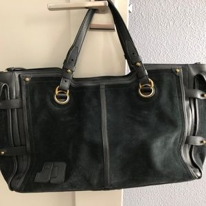 Jerome Dreyfuss Pebbled Leather/Suede tote bag